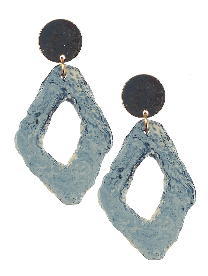 Blue Natural Stone Earrings