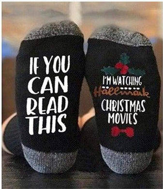 If You Can Read This I'm Watching Hallmark Christmas Movies Socks