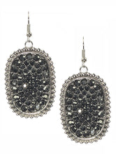 Graphite Crystal Pave Hang Earrings