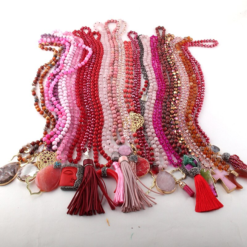 Red Statement Piece Necklaces