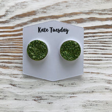 Green Sparkle Druzy Earrings