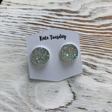 Clear Sparkle Druzy Earrings