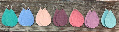 Spring Time Leather Earrings