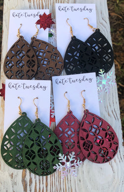 Wood Design Hang Earrings