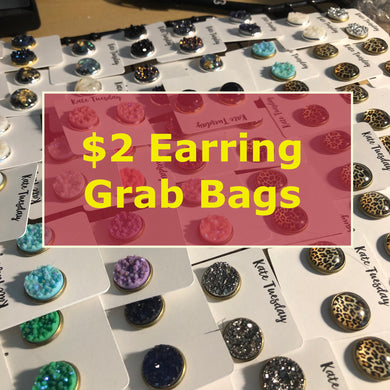 $2 Earrings Druzy Grab Bag