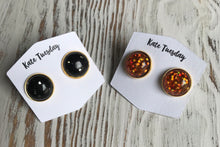 Flash Sale Friday!! Black and Orange Glitter Halloween Earrings