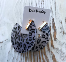 Big Leopard Hoop Earrings