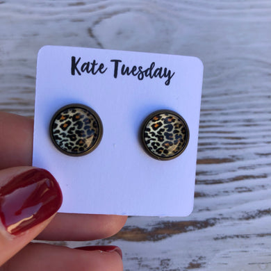 Cheetah Leopard 10mm Earrings