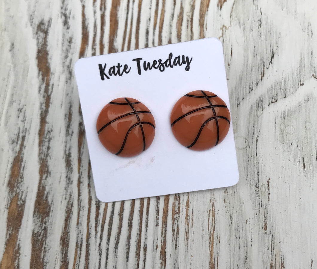 Basketball Sports Stud Acrylic Earrings