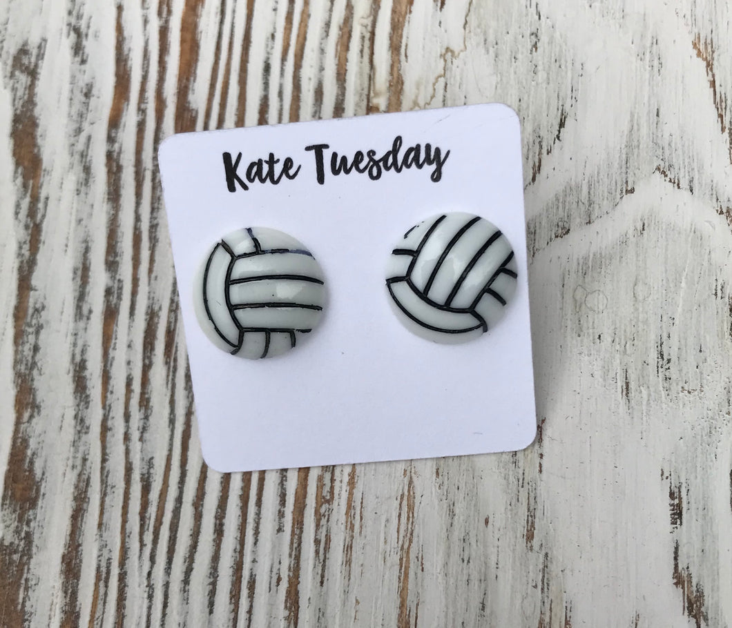 Volleyball Sports Stud Earrings