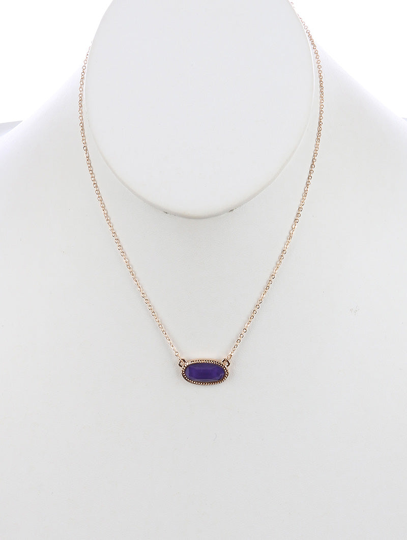 Faceted Purple Stone Necklace