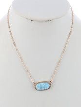 Aqua Blue Druzy Necklace