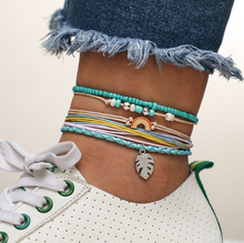 Summer Rainbow Fun Color Anklet Bracelet