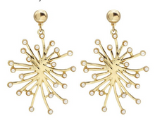 Gold Pop Explosion Hang Earrings