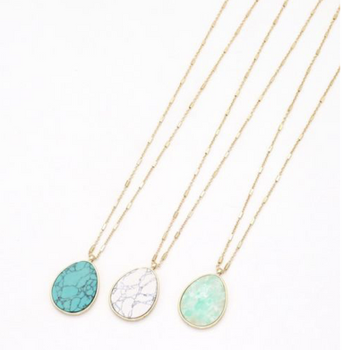 Arielle Stone Pendant Necklace