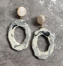 Fresh Stone Faux Druzy Earrings