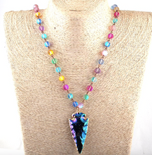 Shiny Crystal ArrowHead Statement Necklace