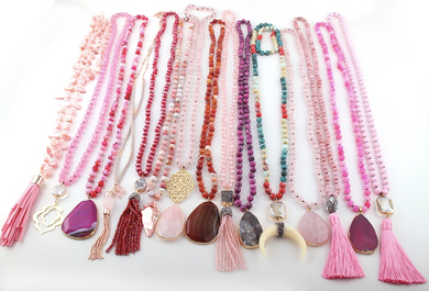 Pink Statement Piece Necklaces