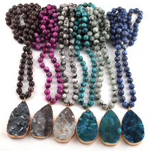 Druzy Drop Stone Statement Necklace