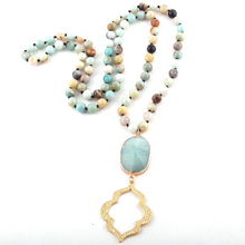 Boho Gold Stone Statement Piece Necklaces