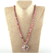 Pink Gold Rock Statement Piece Necklaces