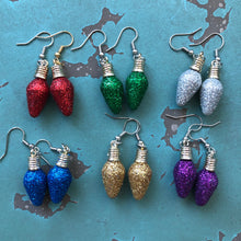 Holiday Light Bulb Earrings