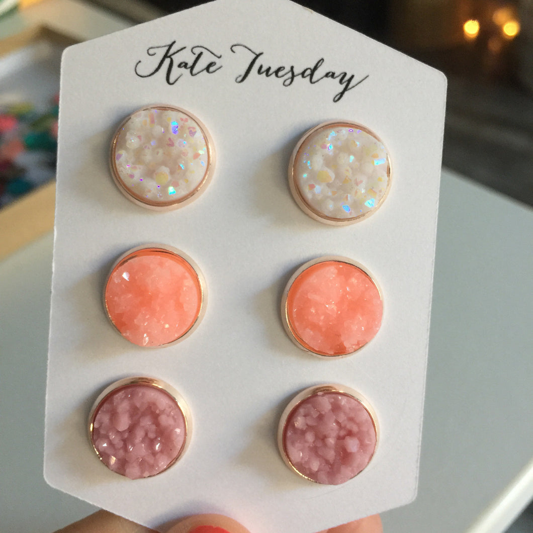 Love of Spring Druzy Earrings Set