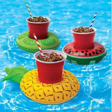 Pineapple, Lime and Watermelon Drink Holder Inflatable Float
