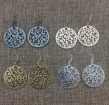 Madina Metal Cut Round Earrings
