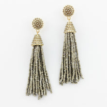 Beaded Tassel Hanging Spring Earrings