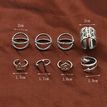 Silver Adrianna Ring Set of 8 Rings