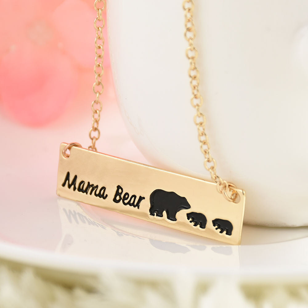 eg bear birthstone and steel names necklaces birthstones stainless necklace mama with name jewelry engraved