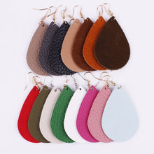 Leather Earring Solid Color Grab Bag