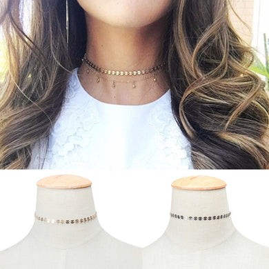 Simple Silver or Gold Coin Choker
