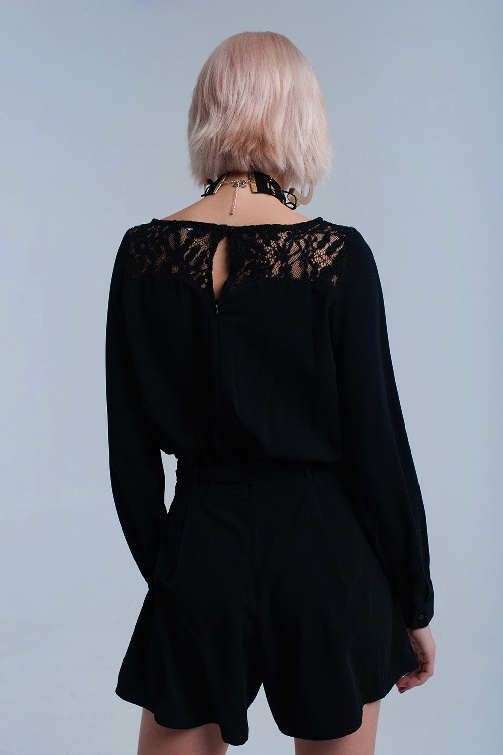 Black Jumpsuit With Lace
