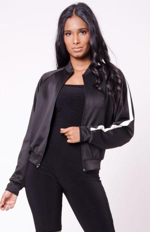 Zip Up Bomber Jacket
