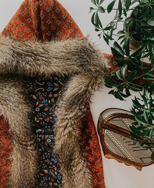 =Boho Cinnamon Woodstock Coat