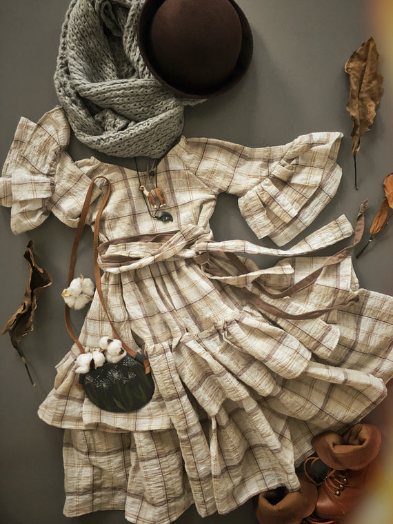 The Brown Plaid Dress