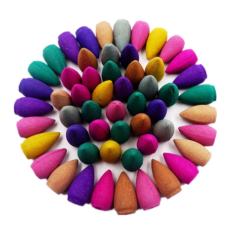 10pcs/30pcs/50pcs/70pcs Incense Smoke Backflow Incense Sandalwood Fragrant Aromatherapy Indian