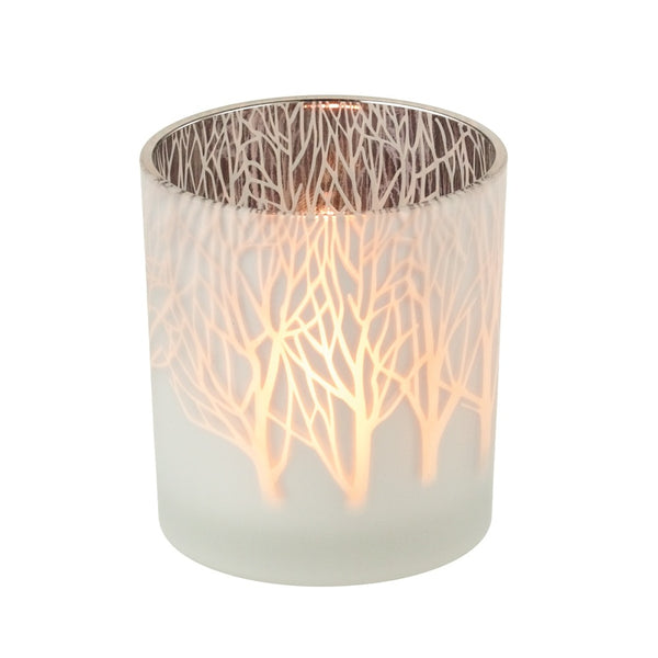 "3"" Frosted Tree Tealight Holder"