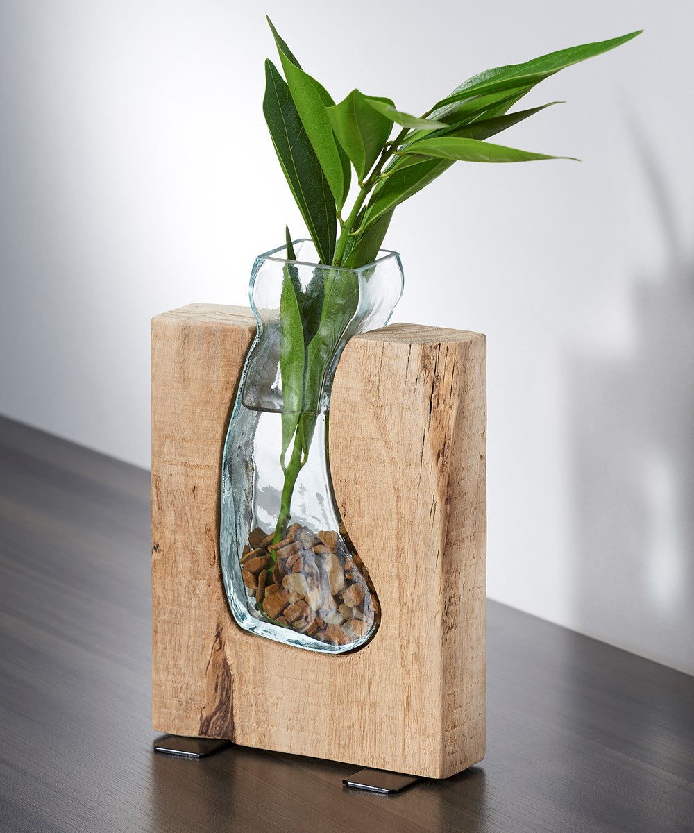 Artisan Tan Oak Wood Vase