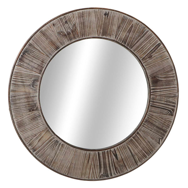 Distressed Grey Wall Mirror