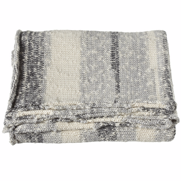 Marled Knit Throw