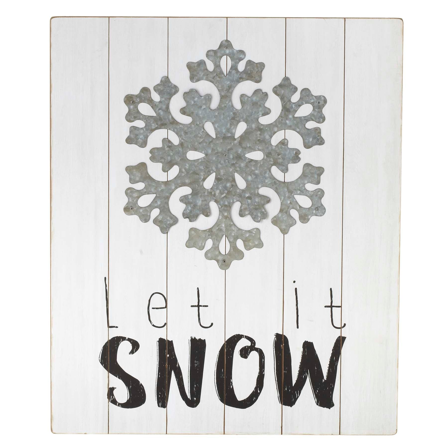 """Let It Snow"" Wall Decor"