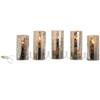 Antiqued Glass Pillar Candle Holder