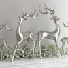 Silver Deer Display, Set of 2