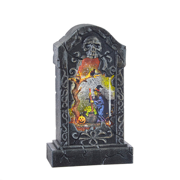 Witches Brew Lighted Water Tombstone