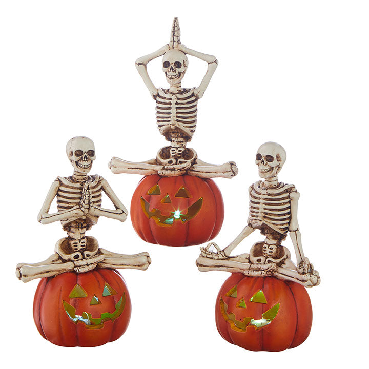 Lighted Yoga Skeleton Trio Set