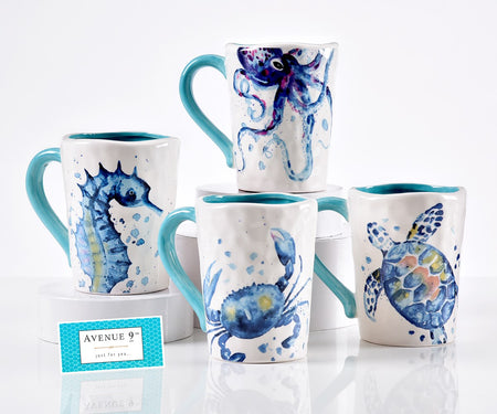 Ceramic Sea Life Design Mug