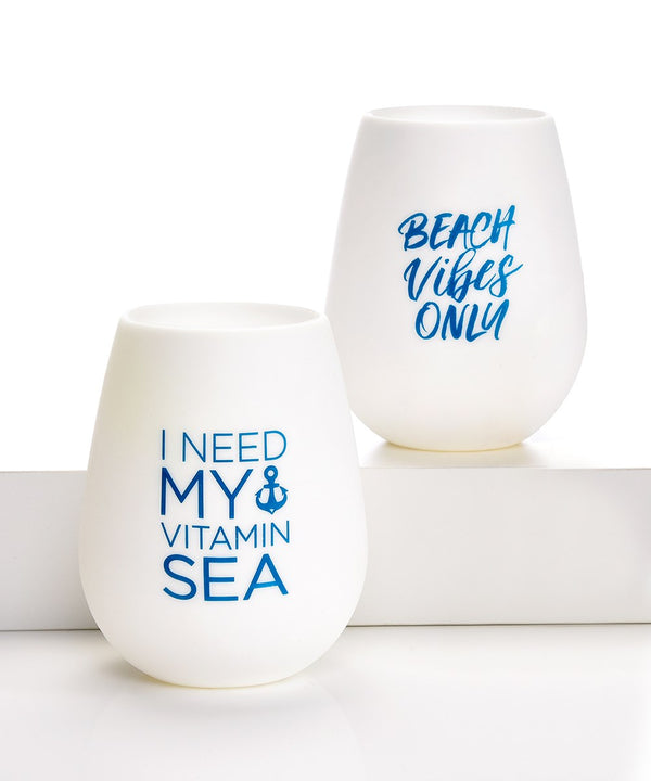 Nautical Silicone Wine Cup